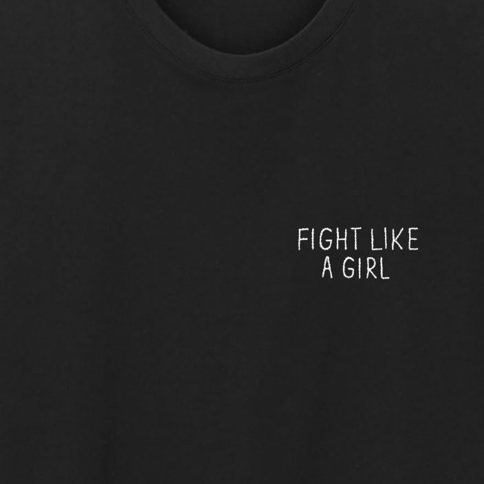 Camiseta Bordada Fight Like A Girl