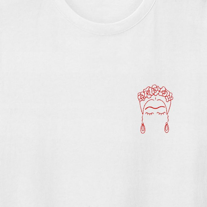 Camiseta Bordada Frida
