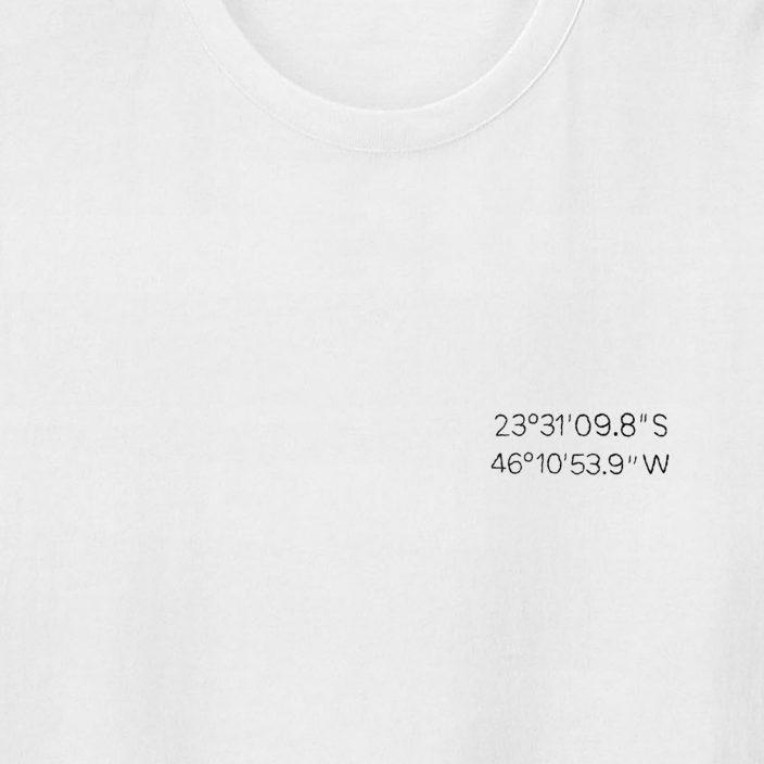 Camiseta Bordada Personalizada Special Location