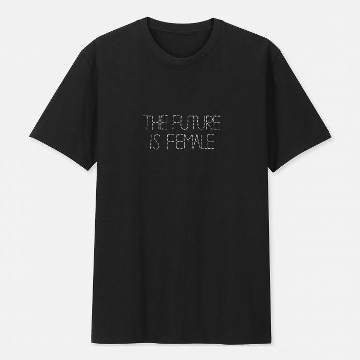 Camiseta Bordada The Future Is Female
