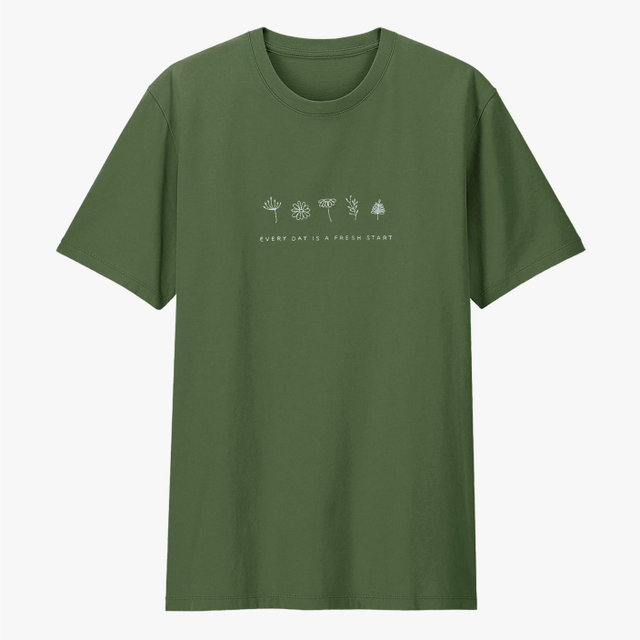 Camiseta Bordada Fresh Start