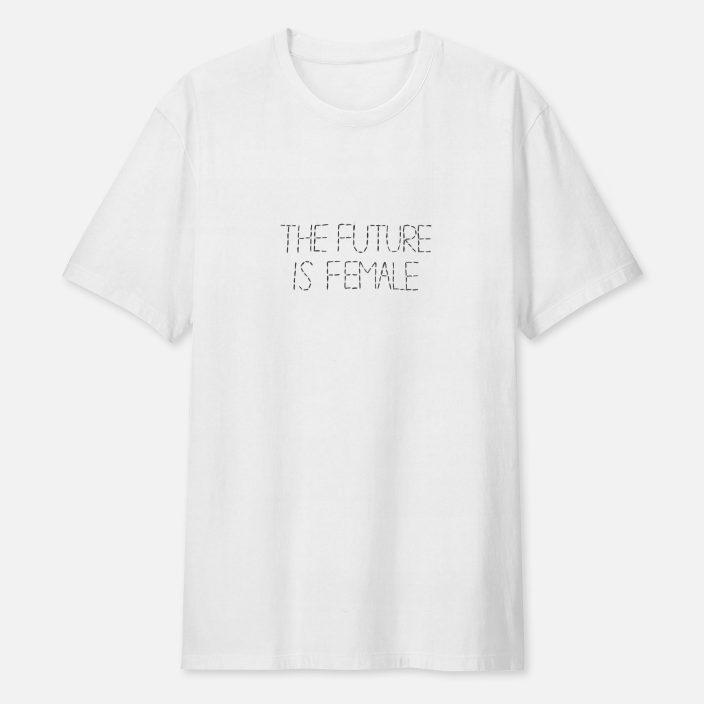 Camiseta Bordada The Future Is Female – P